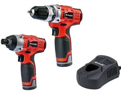 Einhell 12v LI-ION Perceuse sans Fil Te-Cd 12/2 & Visseuse à Percussion Li Te-Ci
