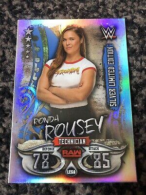 Topps Slam Attax Live Silver Limited Edition Ronda Rousey