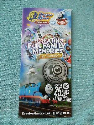 Drayton Manor 2018 Theme Park Map Roller Coaster Amusement guide Collector
