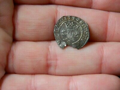 Un researched Medieval hammered silver long cross coin Metal detecting detector