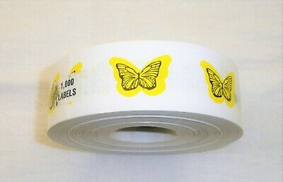 BUTTERFLY YELLOW TANNING STICKER Stickers Scrapbooking Crafts -100 COUNT