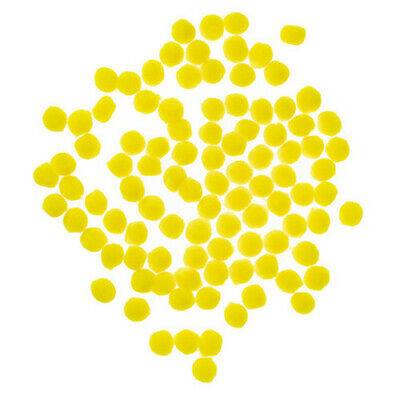 """Pack of 100 Yellow Pom Poms 0.5"""""""