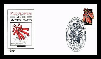 Dr Jim Stamps Us Trumpet Honeysuckle Wildflowers First Day Cover Artmaster
