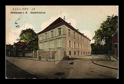 Dr Jim Stamps Library Exterior View Mulhausen Germany Postcard