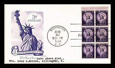 Dr Jim Stamps Us 3C Statue Of Liberty Booklet Pane Fdc Cover Washington Dc