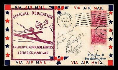 Dr Jim Stamps Us Frederick Maryland Airport Dedication Air Mail Event Cover