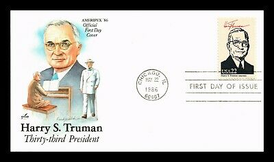 Dr Jim Stamps Us Harry S Truman President Ameripex First Day Cover Chicago