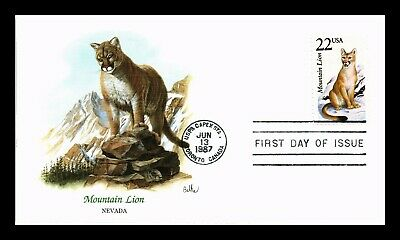 Dr Jim Stamps Us Mountain Lion Wildlife Capex Event Fdc Cover