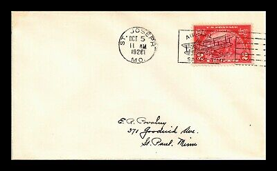 Dr Jim Stamps Us Air Mail Slogan Cancel Cover St Joseph Missouri 1926