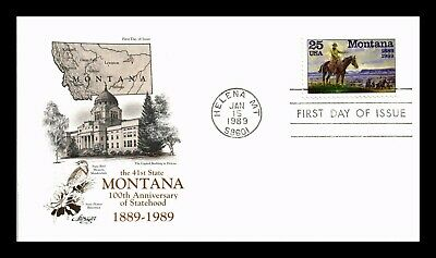 Dr Jim Stamps Us Montana Statehood Centennial First Day Cover Helena
