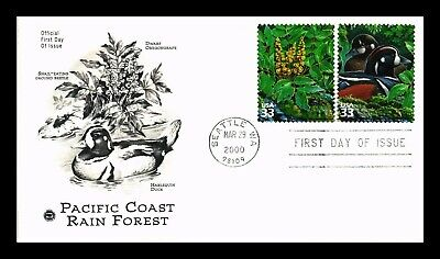 Dr Jim Stamps Us Pacific Coast Rain Forest Combo First Day Cover Seattle