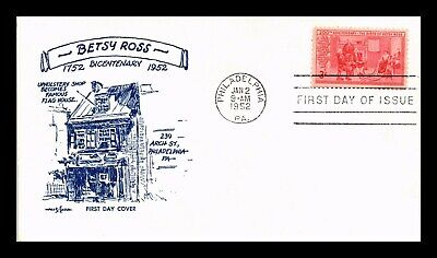 Dr Jim Stamps Us Betsy Ross Bicentennial Pent Arts First Day Cover Philadelphia