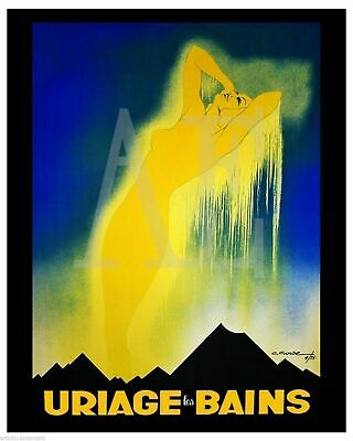 VP-369 Travel Poster Art 8x10 ~ Uriage les Bains Spa and Mineral Baths Deco Lady