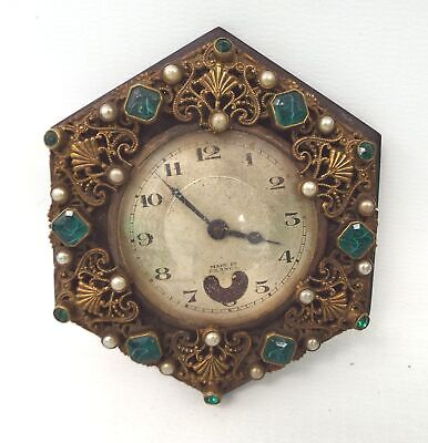 Vintage WIND UP CLOCK With Decorative Surround - Spares/Repairs - H25