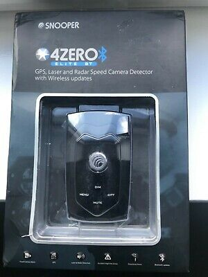 Snooper 4Zero Elite BT GPS/Radar/Laser Detection Device with Bluetooth