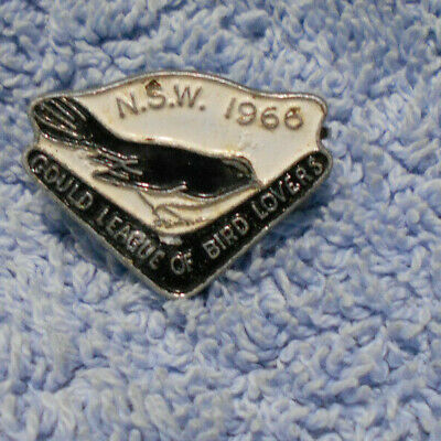 #D482. 1966  Nsw Gould League Of Bird Lovers Badge, Willy Wagtail