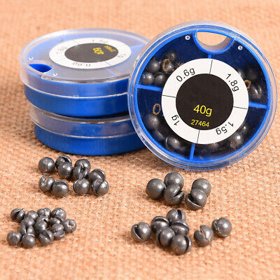 100pcs Fishing Egg Bullet Rig Sinkers Angling Lead Weight Split Shot Oval NIUS