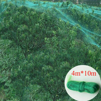 4 X10M Anti Bird Crop Net Netting Garden Plants Ponds Fruit Tree Mesh Protection