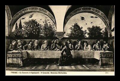 Dr Jim Stamps Last Supper Domenico Ghirlandaio Art Real Photo Italy Postcard