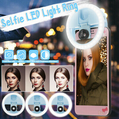 Selfie Portable LED Ring Fill Light USB Flash Fill Ring for iPhone Android Phone