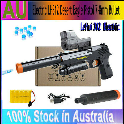 Gel Gun LeHui 312 Electric Desert Eagle Water Gel Blaster Toy Pistol Game Sniper
