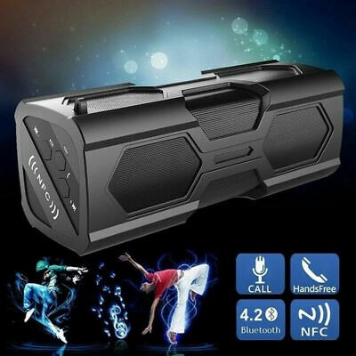 Portable Bluetooth Wireless Speaker Waterproof Power Bank Bass Subwoofer