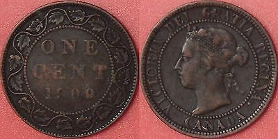 Fine 1900H Canada Large 1 Cent