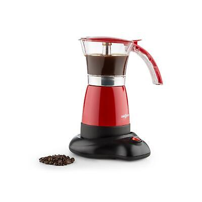 Machine à expresso sans fil électrique 6 tasses 300ml 480W design moderne rouge