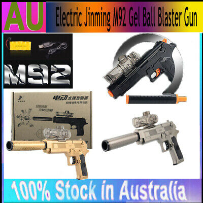 Water Pistol Toy Automatic Electric Jinming M92 Gel Ball Blaster Gun 7-8mm Bombs