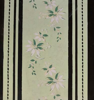 BEAUTIFUL 19th CENTURY ANTIQUE HAND PAINTED FRENCH SILK DESIGN CARTOON 1.