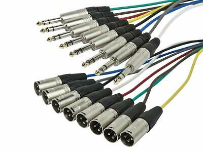 Monoprice 8-Channel 1/4inch TRS Male to XLR Male Snake Cable - 1 Meter 3ft
