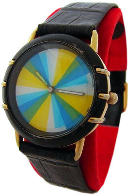 Sixty le Jour Unisex Wristwatch Face Yellow Blue Gold White Color Change