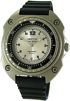 Hektor Commando Germany Diver Mens Watch Plastic Wrist Watch Band Vintage 20 Atm