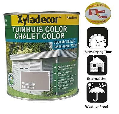 Waterproof Wood Fence Garden Shed Decking Stain Paint Grey 1l Opaque Xyladecor
