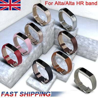 Genuine Leather Replacement Wrist Band Strap For Fitbit Alta & HR Tracker Watch
