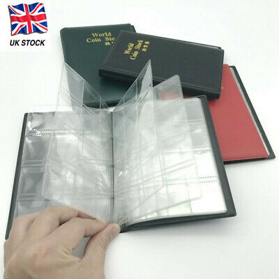 60/120 Grid Collector Coin Penny Money Storage Album Book Holder Case Nice