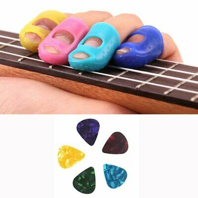 Silicone Fingertip Protectors & Guitar Picks For Electric Acoustic And Bass UK