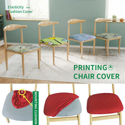 1PC Removable Elastic Stretch Slipcovers Home Dining Chair Seat Covers Soft UK