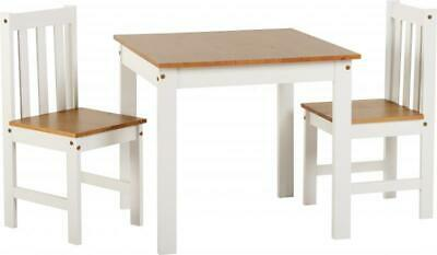 ludlow 1+2 dining set in white / oak laquer sylish modern simple table chairs x2