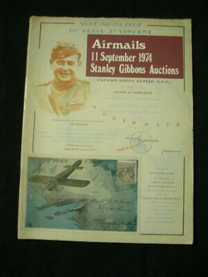 Stanley Gibbons Auction Catalogue 1974 Airmails Of The World 'Butler' Collection