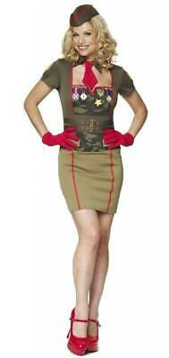 New Army Babe Dress Up Military Costume Fancy Dress 4 Piece Set Ladies Sz 6 - 20
