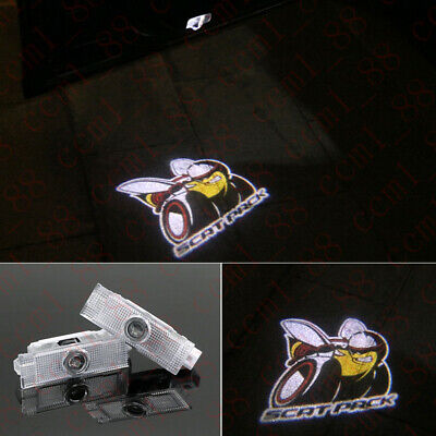 2x Scat Pack Logo LED Laser Projector Car Door Welcome Courtesy Shadow Lights HD