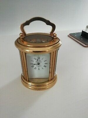 L- EPEE miniature oval carriage clock +key - great condition