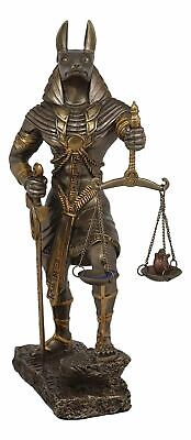 "Ebros Egyptian God of The Dead Anubis w/ Scales of Justice Resin Statue 10""H"