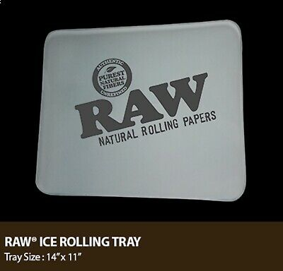 """RAW Frosted Ice Glass Tray Double Thick (LARGE)11""""x14""""LIMITED Edition"""