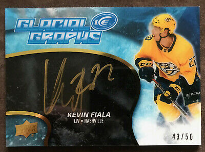 2018-2019 Upper Deck Ice Autograph Hockey Card: Kevin Fiala Glacial Graphs - SP