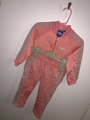 e69285d9 BABY GIRL ADIDAS Pink Tracksuit bottoms jacket 3-6 Months graphic ...