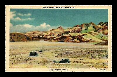 Dr Jim Stamps Us Death Valley National Monument California Linen Postcard