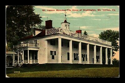 Dr Jim Stamps Us Mt Vernon Mansion Washington Home Virginia View Postcard