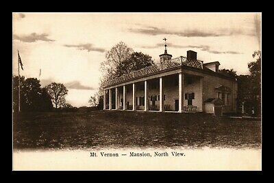 Dr Jim Stamps Us Mount Vernon Mansion North View Virginia Postcard